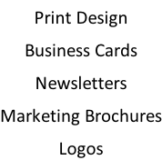 Print Design Business Cards Newsletters Marketing Brochures Logos